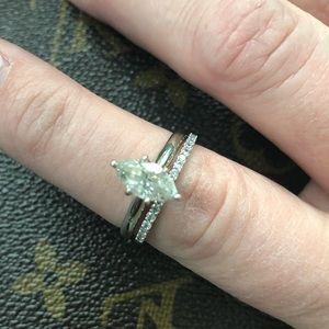 Jewelry - 2 CT Marquise Cut Solitaire with eternity Band